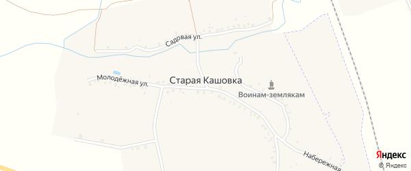 Новая улица на карте деревни Старой Кашовки с номерами домов