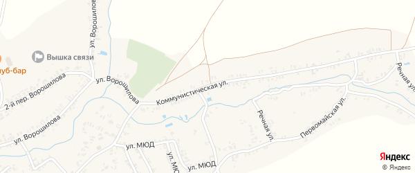 Коммунистическая улица на карте села Коржовки-Голубовки с номерами домов