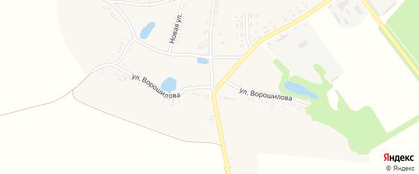 Улица Ворошилова на карте села Киваи с номерами домов