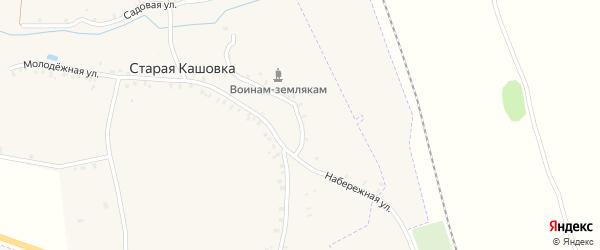 Набережная улица на карте деревни Старой Кашовки с номерами домов