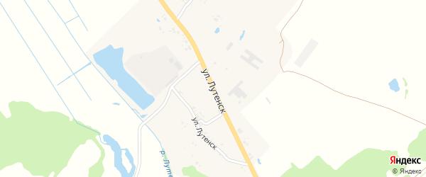 Улица Лутенск на карте села Мартьяновки с номерами домов