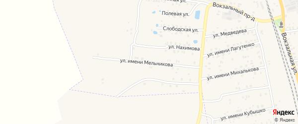 Улица Имени Мельникова на карте Суража с номерами домов