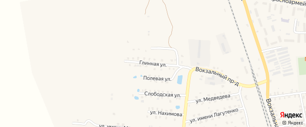 Глинная улица на карте Суража с номерами домов