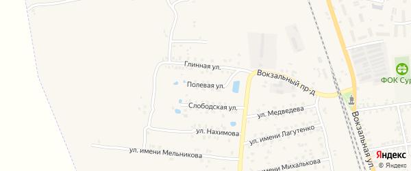 Полевая улица на карте Суража с номерами домов