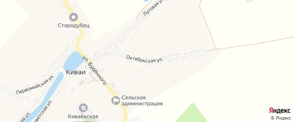 Октябрьская улица на карте села Киваи с номерами домов