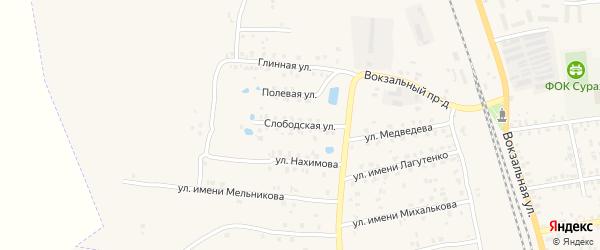 Слободская улица на карте Суража с номерами домов