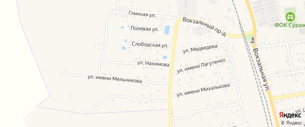Улица Нахимова на карте Суража с номерами домов