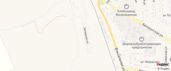 Западная улица на карте Суража с номерами домов