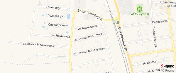 Улица Имени Лагутенко на карте Суража с номерами домов