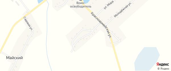 Красноармейский переулок на карте села Далисичи с номерами домов