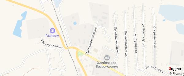 Промышленный переулок на карте Суража с номерами домов
