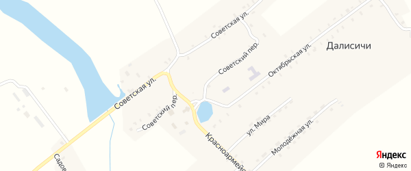 Советский переулок на карте села Далисичи с номерами домов