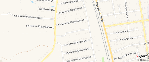 Улица Имени Грибанова на карте Суража с номерами домов