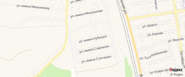Улица Имени Кубышко на карте Суража с номерами домов