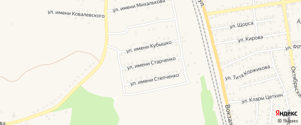 Улица Имени Старченко на карте Суража с номерами домов