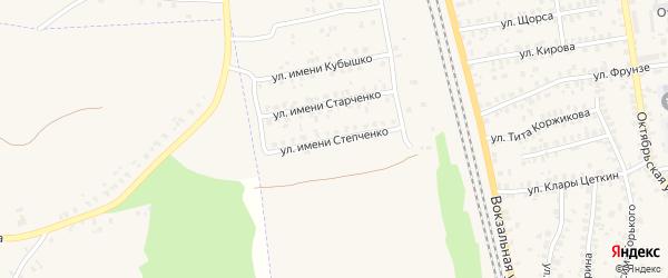 Улица Имени Степченко на карте Суража с номерами домов