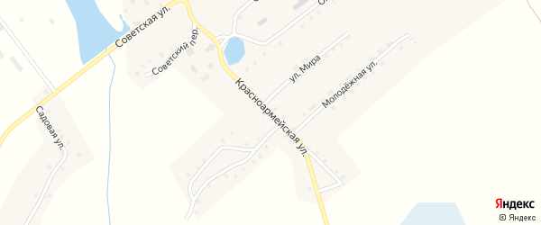 Красноармейская улица на карте села Далисичи с номерами домов