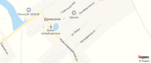 Улица Мира на карте села Далисичи с номерами домов