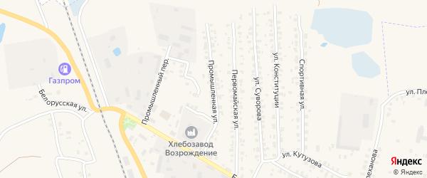 Промышленная улица на карте Суража с номерами домов