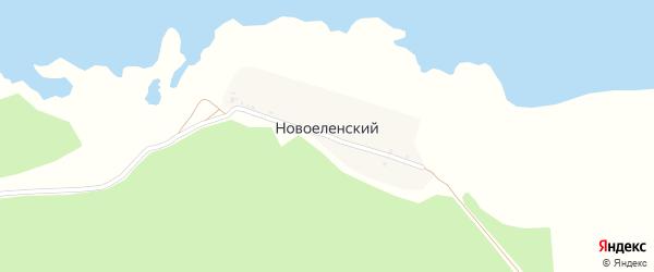 Набережная улица на карте Новоеленского поселка с номерами домов