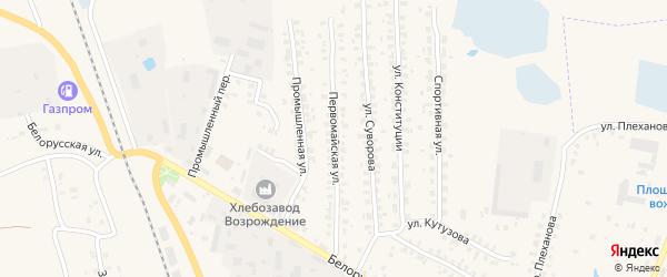 Первомайская улица на карте Суража с номерами домов