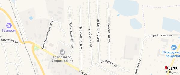Улица Суворова на карте Суража с номерами домов
