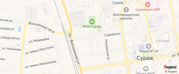 Переулок Маяковского на карте Суража с номерами домов