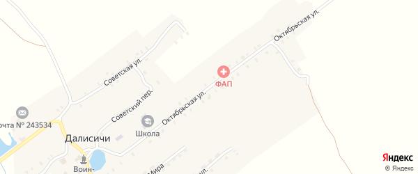 Октябрьская улица на карте села Далисичи с номерами домов