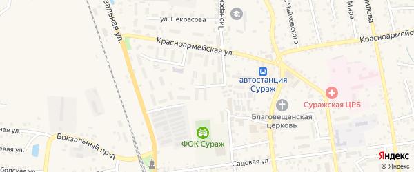 Вокзальный переулок на карте Суража с номерами домов