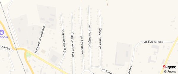 Улица Конституции на карте Суража с номерами домов