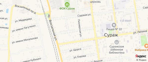 Улица Маяковского на карте Суража с номерами домов