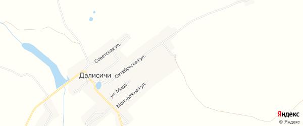 Карта села Далисичи в Брянской области с улицами и номерами домов