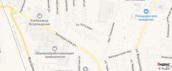 Улица Кутузова на карте Суража с номерами домов