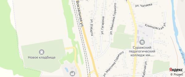 Улица 8 Марта на карте Суража с номерами домов