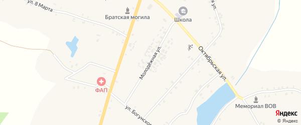 Молодежная улица на карте села Кулаги с номерами домов