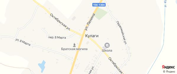 Октябрьская улица на карте села Кулаги с номерами домов