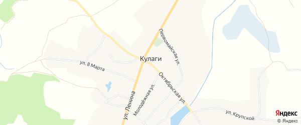Карта села Кулаги в Брянской области с улицами и номерами домов