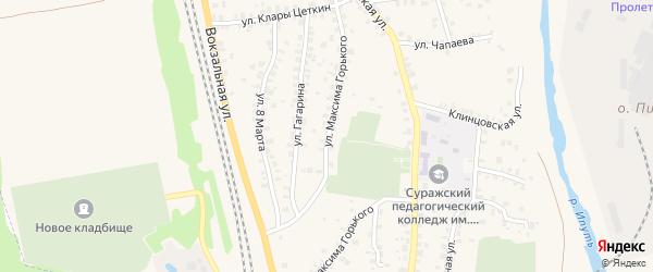 Улица Максима Горького на карте Суража с номерами домов