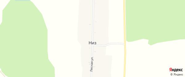 Лесная улица на карте поселка Низа с номерами домов