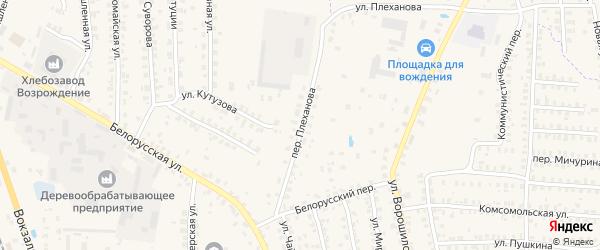 Переулок Плеханова на карте Суража с номерами домов