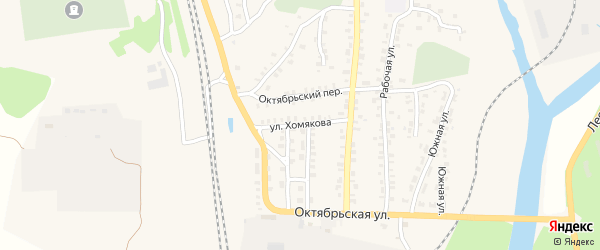 Улица Хомякова на карте Суража с номерами домов