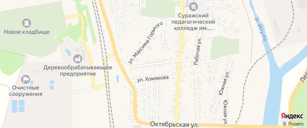 Октябрьский переулок на карте Суража с номерами домов