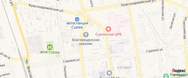 Новая улица на карте Суража с номерами домов