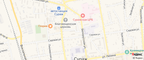 Улица 6-й Квартал на карте Суража с номерами домов