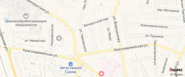 Ново-Белорусская улица на карте Суража с номерами домов