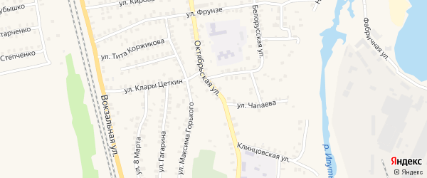 Октябрьская улица на карте Суража с номерами домов
