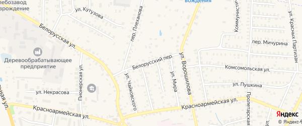 Белорусский переулок на карте Суража с номерами домов