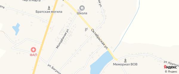 Первомайская улица на карте села Кулаги с номерами домов