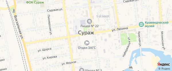 Дачная улица на карте Дачно-садовый кооператив Дачный гаражно-строительного кооператива с номерами домов