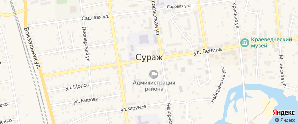 Территория ГО 4-й квартал на карте Суража с номерами домов